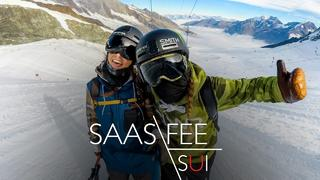 Coline n' Emma in Saas-Fee - 3år sedan