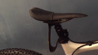 Improviserad dropper mudguard