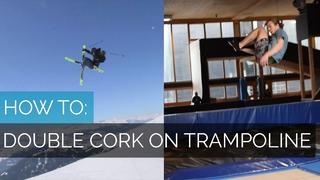 HOW TO DOUBLE CORK|PART 1| HOW TO DOUBLE CORK ON TRAMPOLINE