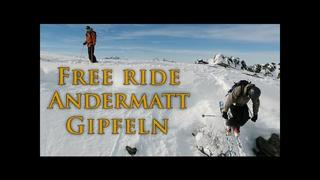 Big Mountain Free Riding in Andermatt - 120fps - 3år sedan