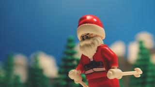 Lego Santa Back-Flips On Skis - 3år sedan