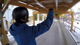 Anders Backe: Skiing down to Olympic Bobsleigh Track - 1år sedan