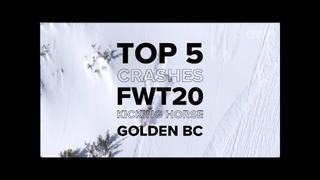 FWT20 Kicking Horse Golden BC | Top 5 Crashes - 1år sedan