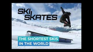 Skiskates - The Shortest Skis In The World - The Only Skis That Fit Into Your Backback - 1month ago